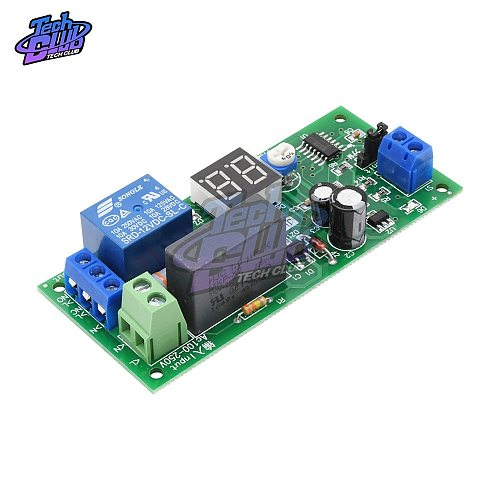 AC 220V 10A Digital Display Delay Relay Module Delay Timer Switch Turn Off Board 0Seconds-99 Minutes Delay Relay Module