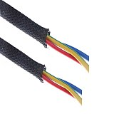 1/5/10/M Black Insulated Braid Sleeving 2/4/6/8/10/12/15/20/25mm Tight PET Wire Cable Gland Protection Cable Sleeve