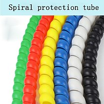 Colorful wire wrap spiral in cable sleeve wiring harness Motorcycle heat pipe sleeve Cable Sleeves Winding Pipe 1M 8-32mm