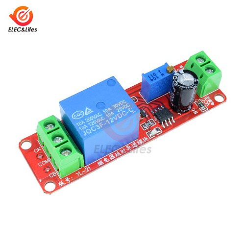 DC 5V 12V Time Delay Relay NE555 Conduction Time Relay Shield Timing Relay Timer Control Switch Car Relays Pulse Duty Cycle