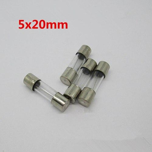 20pcs 5*20mm Fast Blow Glass Tube Fuses 5x20mm 250V 0.1 0.2 0.5 1 2 3 4 5 6 8 10 13 15 20 A AMP Fuse