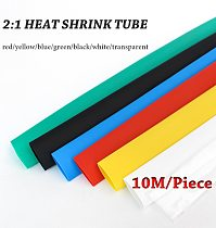 10M/lot set  Heat shrink tube 2:1kit Insulation Sleeving termoretractil Polyolefin Shrinking Assorted Heat  Tubing Wire Cable