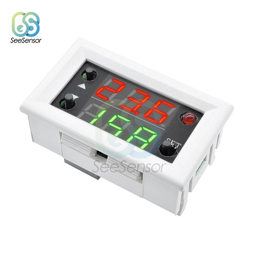 Dual Display Time Relay Module DC 12V Time Delay Relay Mini LED Digital Timer Relay Timing Delay Cycle Time Control Switch 20A