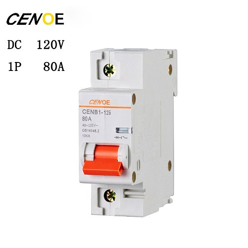 1P 63A 80A 100A 125A DC 120V electric vehicle DC breaker mini DC circuit breaker with short circuit and overload protection
