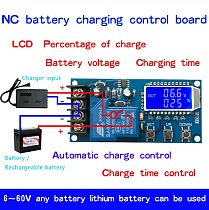 10A 30A 6-60V Lead-acid Solar Storage Battery Charger Control Module Digital Overcharge Protection Control Switch LED indicator