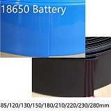 18650 Lipo Battery Width 85 120 130 150 180 210 220 230 280mm PVC Heat Shrink Tube Insulated Film Wrap Protect Case Cable Sleeve