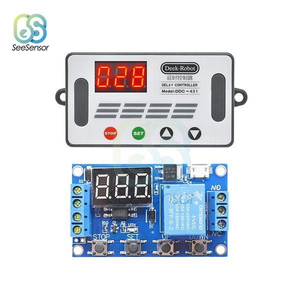 DDC-431 Delay Controller DC 5V 12V 24V LED Light Digital Time Delay Relay Trigger Cycle Timer Delay Switch Timing Control Module