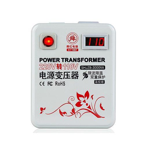 Power converter 3000W AC 110V to 220V or AC 220V to 110V voltage transformer 3000VA thermally protected