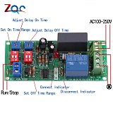Dual Time Adjustable Cycle Delay Timing Relay Repeat ON OFF Switch Infinite Loop Timer Module AC 100V 110V 120V 220V 230V 240V