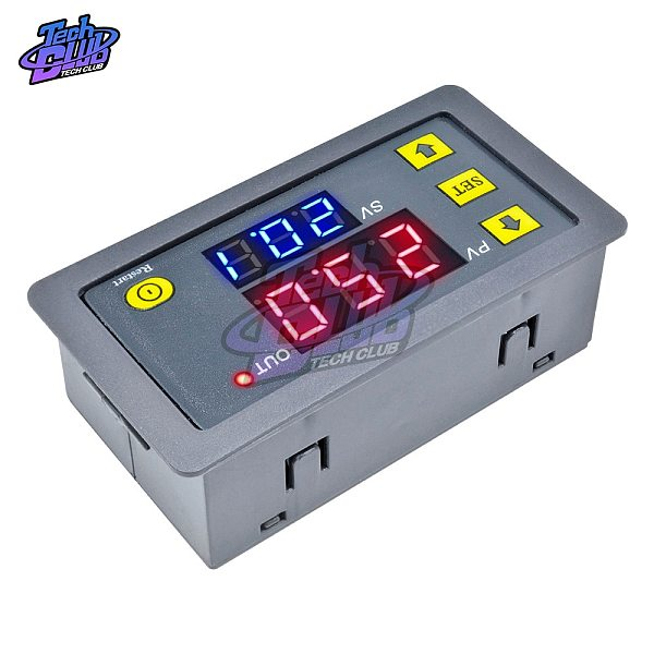 AC110V 220 DC 12V 24V Digital Time Delay Relay Adjustable LED Display Cycle Timer Control Switch Timing Relay Time Delay Switch