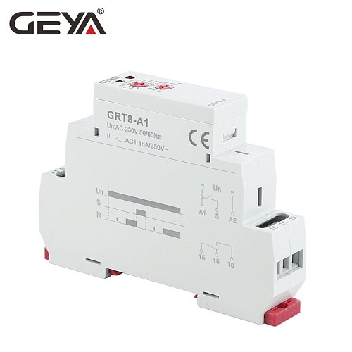 Free Shipping GEYA GRT8-A  ON Delay Timer Relay Din Rail 12V Relay 220V 10Days Adjustable Timer ROHS Test Approved