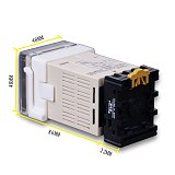 AC/DC 24v-240v DH48S-S Programmable Digital display time relay cycle control Double Time Delay Relay Socket with Base Voltage