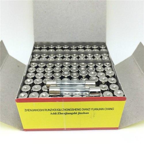 10pcs 6X30mm 250V 0.5A 1A 2A 3A 4A 5A 6A 7A 8A 10A 15A 20A Fast Blow Glass Fuse 6mm x 30mm