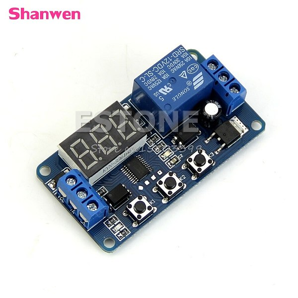 12V LED Home Automation Delay Timer Control Switch Relay Module Digital display G08 Whosale&DropShip