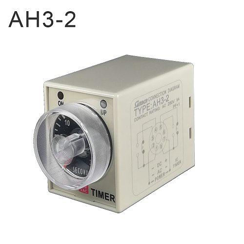 2019 latest 1pcs AC/DC universal 24V-240V timer relay AH3-2  time delay relay good quality relay timer
