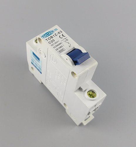 1P 20A 20Ampere DC 125V  Circuit breaker MCB direct-current C curve