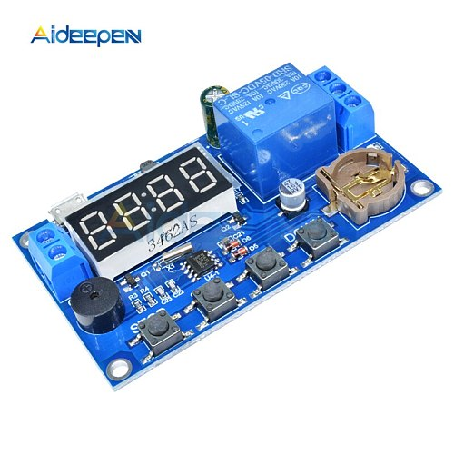 DC 5V LED Digital Real-time Relay Module Clock Control Switch Delay Timer Controller Board With Buzzer Alarm 12V 24V 48V 60V