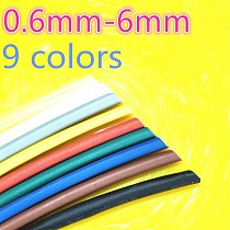 1meter 2:1 9 Colors 0.6mm 0.8mm 1mm 1.5mm 2mm 2.5mm 3mm 3.5mm 4mm 4.5mm 5mm Heat Shrink Heatshrink Tubing Tube Wire Dropshipping