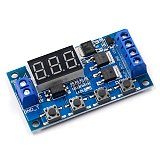 Trigger Cycle Timer Delay Switch 12 24V Circuit Board Dual MOS Tube Control Module