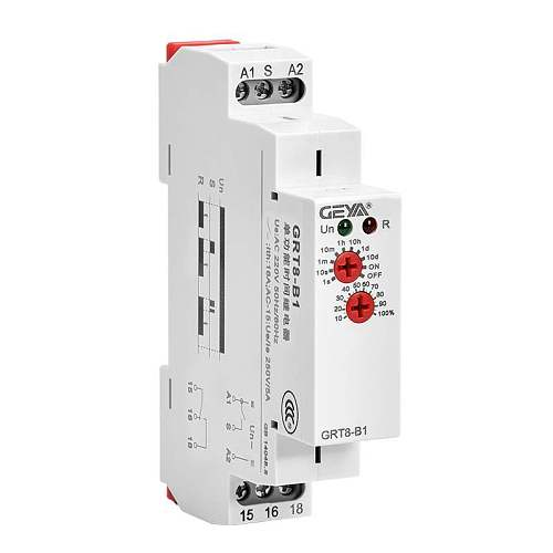Din Rail Mini Delay OFF Timer Relay Switch GRT8-B Adjustable 16A AC230V or AC/DC12-240V Delay Time Relay with CE CB
