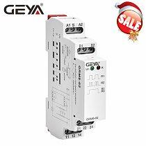 GEYA GRM8 Latching Relay Memory Relay SPDT 16A Step Relay AC230V OR AC/DC12-240V Impulse Relay 12V
