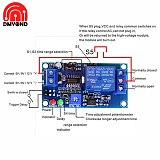 Electronics Delay Relay Switch Module Adjustment Potentiometer Delay Turn On Delay Turn off Switch Module With Timer DC 12V