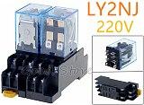 1set 220V AC DC 10A Coil Power Relay DPDT LY2NJ HH62P HHC68A-2Z With Socket Base New