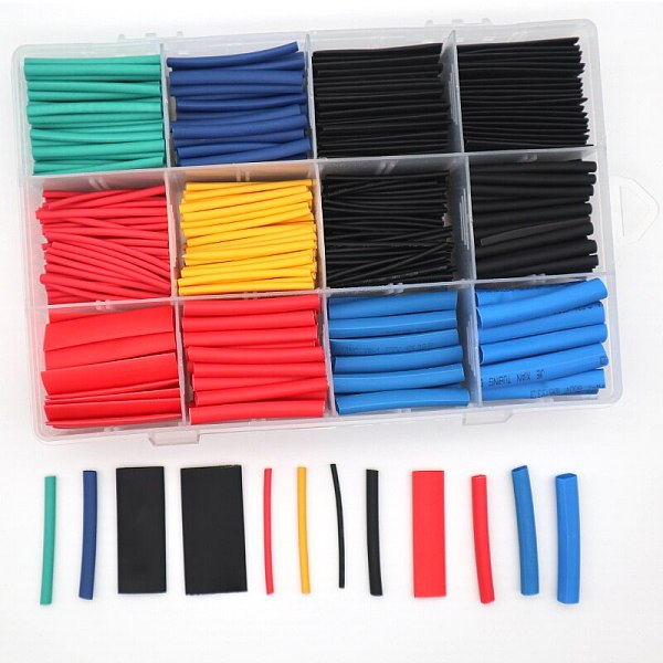 560PCS Heat Shrinkage Tubing Assortment Adhesive 2:1 Electrical Wire Cable Wrap Electric Insulation Kit With Box For DIY