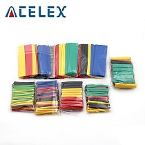 164pcs/Set Heat Shrink Tube termoretractil Polyolefin Shrinking Assorted Insulated Sleeving Tubing Wrap Wire Cable Sleeve Kit
