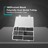 385Pcs/box Polyolefin Shrinking Assorted Insulated Sleeving Tubing Set Heat Shrinkable Tube Wrap Wire Heat Shrink Tubing