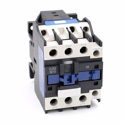 CJX2-3210  24VAC 36V 110V 380V 220V 50Hz Coil Voltage 50A 3 Pole 1NO 35mm DIN Rail AC Contactor