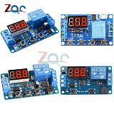 DC 5V/12V LED Digital Display Home Automation Delay Relay Trigger Time Circuit Timer Control Cycle Adjustable Switch Module