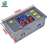 Digital Time Delay Relay LED Display Cycle Timer Control Switch Adjustable Timing Relay Time Delay Switch AC 110V 220V DC 12V