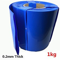 0.2mm thick insulated PVC blue heat shrinkable tube 18650 battery shrink film battery insulation sleeve 1KG Heat shrinkable tube