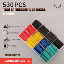 280/530Pcs box Heat Shrink Tube Tubing Insulation Shrinkable Tube Sleeving Wrap Wire Car Assortment Electrical Cable Polyolefin