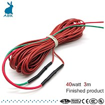 1K 3m 40w carbon fiber silicone rubber heating cable soft tough radiation-free heating wire warm Heat cable Electric heat