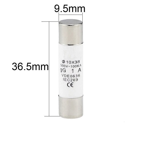 10PCS 10*38 Fast Blow Ceramic Fuse 10x38mm Fuse 500V  1A 2A 3A 4A 5A 6A 10A 16A 20A  32A  For RO15 RT18 RT14 Fuse Core