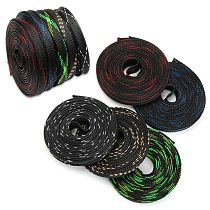 Dropship 5M 10M 50M 10mm PET Expandable Braided Cable Sleeve Wire Protecting Nylon Insulation Sheathing Braided Sleeves