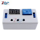 LED Digital Display Time Delay Relay Module DC 12V / 24V Timing Control Programmable Timer Switch Trigger Cycle Module with Case
