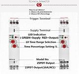 Delay off Timer Relay 12V 24V 220V DIN Rail Type Electronic Time Relay 220V OR AC/DC12-240V
