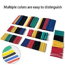 164pcs/Set PVC Heat Shrink Tubing Kit  Polyolefin Shrinkable tube cable sleeve  8 Sizes  2:1 S