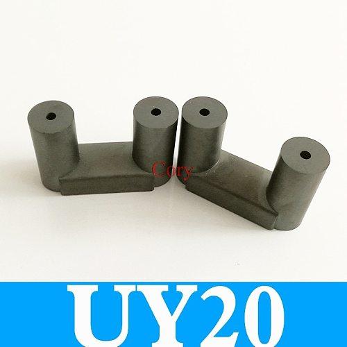 1Pair UY20 Al 3750nH/N2 UU transformer ferrite core UR64/40/20 Isolator ferrite bead RF choke ferrite MnZn PC40