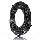 MTSPACE 5M 6mm Spiral Wire Organizer Wrap Tube Flexible Manage Cord for PC Computer Home Hiding Cable 4-50mm Make Wire Succinct