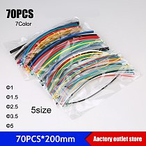 70pcs*200mm/140pcs Heat shrink tube Thermoresistant tube heat shrink tubing Wrap Sleeve Assorted Mixed cable Sleeving Wrap Wire