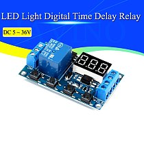DC 5V 12V 24V LED Light Digital Time Delay Relay Trigger Cycle Timer Delay Switch Circuit Board Timing Control Module DIY