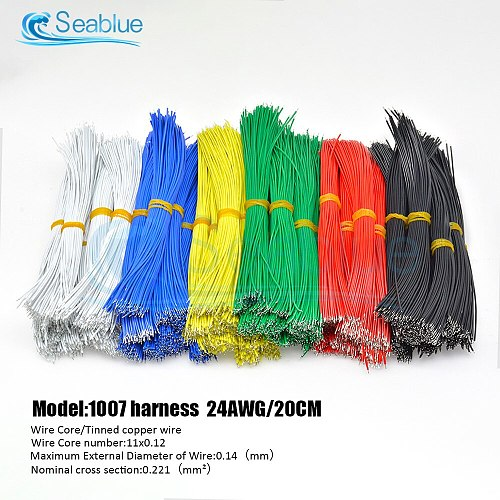 100Pcs/lot 24AWG 8cm 10cm 15cm 20cm Tin-Plated Breadboard PCB Solder Cable Fly Jumper Wire UL1007 Tin Conductor Connector Wires