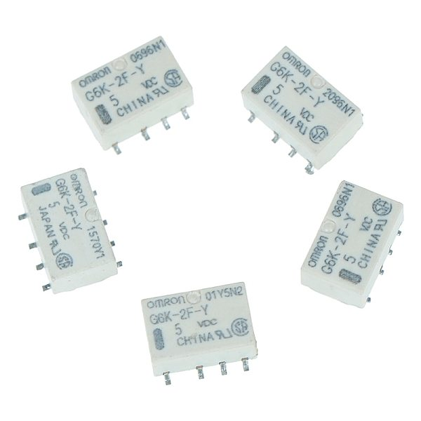 5 /10pcs 10*6.5*5mm DC 5V SMD G6K-2F-Y Signal Relay 8PIN For Omron Relay Automatic Control System Control Connect and Disconnect