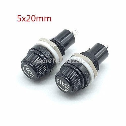 5pcs 5*20mm glass fuse holders 5x20 insurance tube socket fuse holder for insurance Panel Mount Fuse Holder