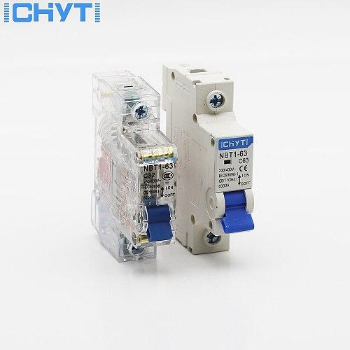ICHYTI 220v/400V 1P 6A/10A/16A/20A/25A/32A/40A/50A/63A Transparent shell Air switch Household miniature circuit breaker MCB