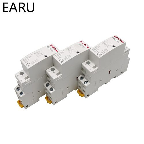 2P 16A 20A 25A 1NO 1NC 2NO 2NC AC 220V 230V 50/60Hz Din Rail Mounted Household Modular AC Contactor for Smart Home House Hotel